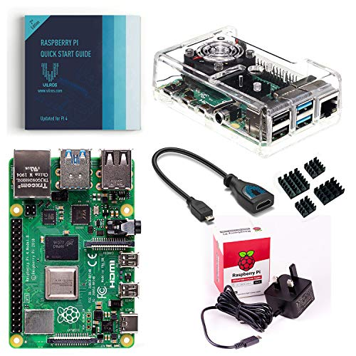 Vilros Raspberry Pi 4 - Starter kit base con ventola raffreddata