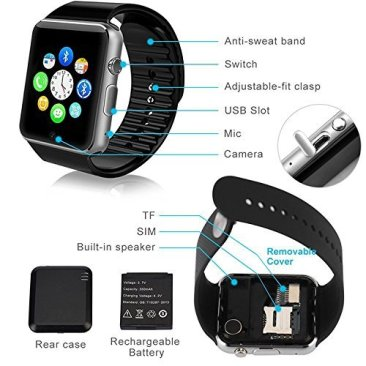 Jokin Bluetooth Smart Watch with Camera & SIM Card Support for Android and iOS Smartphones 4