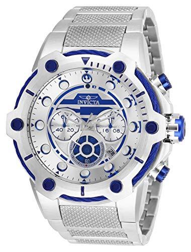 Invicta 26220 Star Wars - R2-D2 Herren Uhr Edelstahl Quarz silbernen Zifferblat