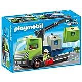 Playmobil - Camión de residuos con contenedores para el vidrio (6109)