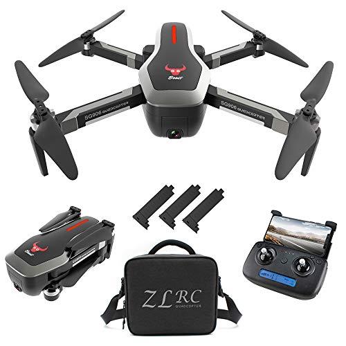 Goolsky SG906 GPS Senza spazzole 4K Drone con Fotocamera Borsa 5G WiFi FPV Pieghevole Portata Ottica di Posizionamento Altitude Hold RC Quadcopter Drone con 3 Batteria