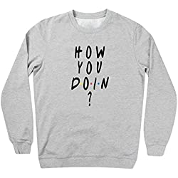Friends Series How You Doin Fun Logo Gris Sudadera unisex Small