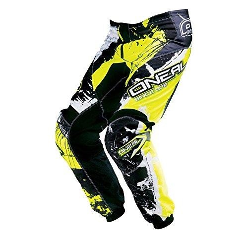 O'Neal Element MX Hose Shocker Schwarz Neongelb Motocross Enduro Offroad, 0124S-6, Größe 30/46