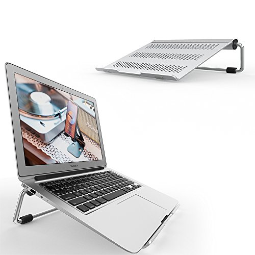 "Supporto per PC Portatile, Lamicall Supporto Laptop Notebook : Regolabile Supporto Stand Dock per Apple 2018 MacBook, MacBook Air, MacBook Pro, Dell XPS, HP, Samsung, Lenovo, altri 10""~17"" Notebooks - Argent"