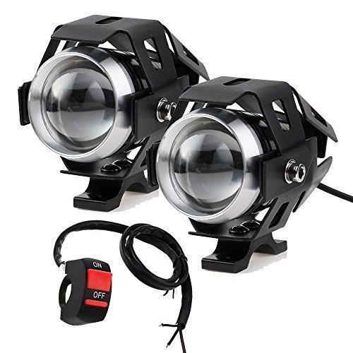 Prozor faretti frontali da moto con interruttore universale a 3 pulsanti, con luci antinebbia LED...