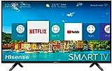 "Hisense H40B5600, Smart TV Full HD, 2 HDMI, 2 USB, Salida Óptica y de Auriculares, WiFi N, Audio DBX, Procesador Quad Core, VIDAA U 2.5, 802.11bgn,2.4G/Ethernet RJ-45/HDMI/USB, 40"", Negro"