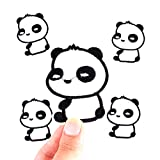 xunhui Panda Cute Animal parches hierro en Cartoon Ropa para ropa infantil pegatinas DIY barato bordado parches 10piezas