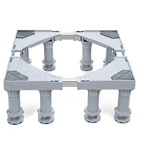Multi-funzionale mobile telescopico per mobili con rotelle, regolabile con 8 robusti piedini...