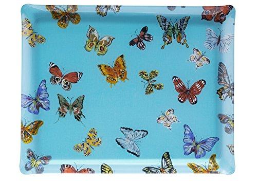 Platex Bandeja (acrílico, 46x 36cm), diseño de Mariposas, Azul P