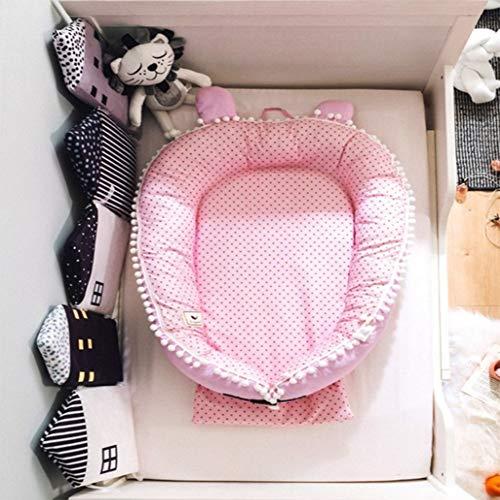 Wan-b Lettino Presepe Portatile Lettino per Neonato Presepe uterino in Cotone Rimovibile Presepe Protettiva,Color4,100x80cm