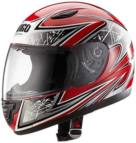 Protectwear SA03-RT-XXXS Kinder Motorradhelm, Integralhelm, Größe XXXS (Youth S), Rot/Silber