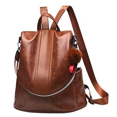 Paradox Girl's Water Resistant Vegan Leather Anti-Theft School Shoulder Backpack Bag (Black) 21