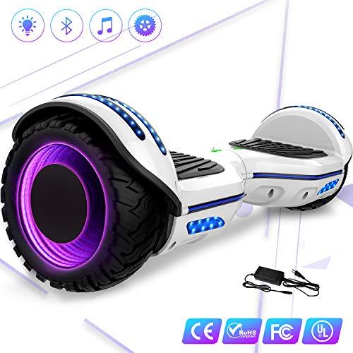 elettrico 6.5'' E-Star,Scooter elettrico auto bilanciamento Ruote con LED Altoparlante Bluetooth,...