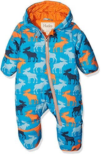 Hatley Mini Winter Bundler Tuta da Neve, Blu (Moose Shadows 400), 6-9 Mesi Bimbo