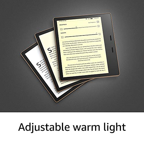"""All-New Kindle Oasis (10th Gen) - Now with adjustable warm light, 7"""" Display, Waterproof, 32 GB, WiFi + Free 4G (Graphite) 7"""
