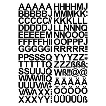 Skittz-Werbetechnik-Leicht-anzubringende-Buchstaben-Aufkleber-4cm-glnzend-150-HOCHWERTIGE-KLEBEBUCHSTABEN-Buchstaben-zum-aufkleben-ABC-Alphabet-Wasser-und-wetterfest-ideal-fr-den-Auenbereich