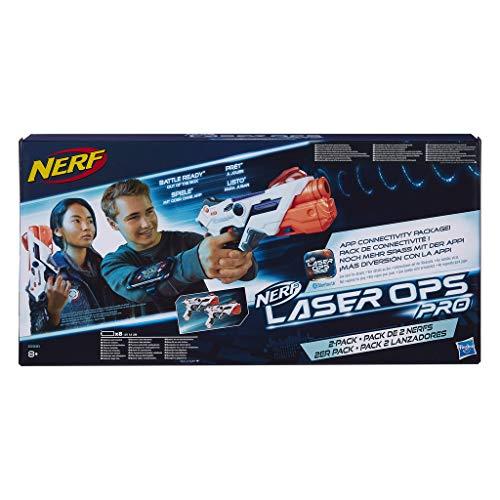 Hasbro Pistola Laser Modello: Nerf Ops Alphapoint, Confezione da 2 Pezzi, Codice dell'Articolo: E2281
