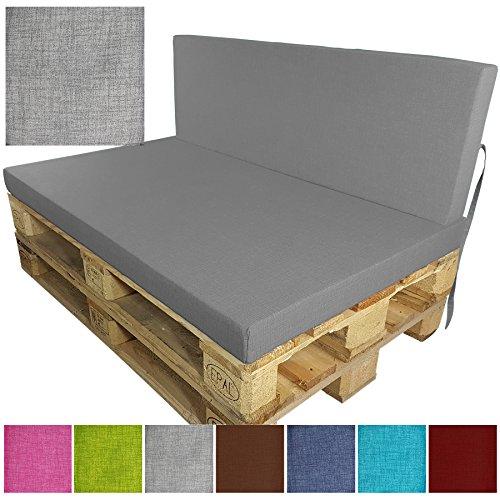 Cuscino per divano in palet esterno 'Outdoor' - Schienale o Sedile resistente all' acqua, allo...