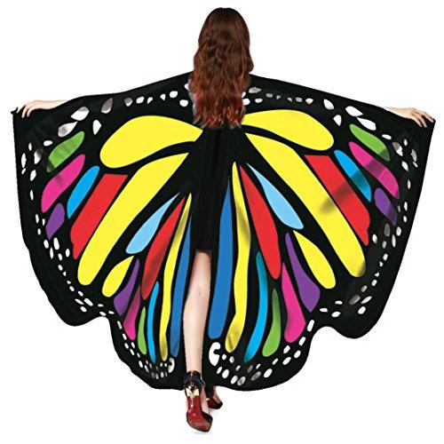 VENMO Disfraz de Chal de Alas de Mariposa Adulto Chica Mujer Bufanda Señoras NINFA Pixie Poncho Traje Accesorio