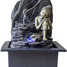 Zen Light Saoun – Fuente de Interior con Bomba e iluminación LED, Resina, Talla única