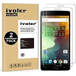 iVoler [2 Unidades] Protector de Pantalla para OnePlus 2 / OnePlus Two, Cristal Vidrio Templado Premium [9H Dureza] [Ultra Fina 0,3mm] [2.5D Round Edge]