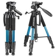 Neewer 142cm Trípode de Cámara de Aluminio con Rótula de 3 Vías Giratorio, Bolsa de Transporte para cámara DSLR, DV Video Videocámara, Carga hasta 4 kilogramos Azul(SAB234)