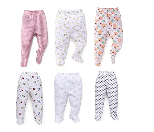 NammaBaby Soft Pyjamas for Infants (Multicolour, 3-6 Months) - Pack of 6