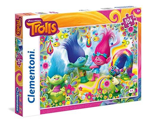 Clementoni 27967-Puzzle Trolls, 104 Pezzi, Multicolore, 27967