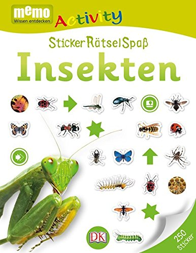 memo Activity. StickerRätselSpaß Insekten