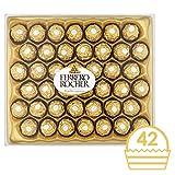 Ferrero Rocher Chocolate Gift Set, Hazelnut and Milk Chocolate Pralines, Box of 42 Pieces