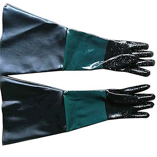 Chengyi sabbiatura Machine Special guanti Sandblasting guanti 60cm PVC Plus foderato guanti...