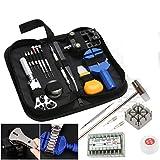 SODIAL 380 pz Kit di strumenti di riparazione dellorologio Cassa dellorologio di rimozione per apri del case posteriore di orologeria
