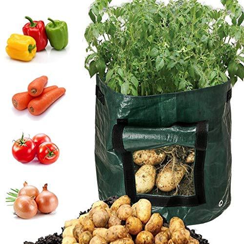 Tianya Bolsas de Basura de jardín Bricolaje de papa Crecer sembradora de tela para desechos de jardín Saco para residuos 30x30x35cm