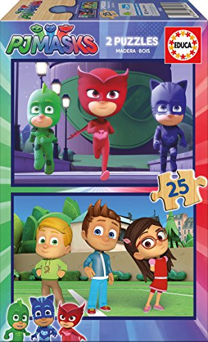 Educa Borras-2x25 PJ Masks Puzzle, Colore Vario, Norme, 17448