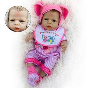 ZZSQ 55 cm 22 Inch del Oso de la Bebé Reborn Niña con Chupete Cuerpo Entero Silicona Muñecas Vinilo Recien Nacido Baby Dolls Juguetes Bañera Gift