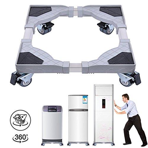 Dewel Supporto Lavatrice Base lavatrice Base Mobile Multifunzionale con 4 Ruote Doppie per...