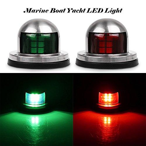 TiooDre Luci di Navigazione per Imbarcazioni, Acciaio Luci di Navigazione Luce 2pcs Green e Red...