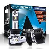 NOVSIGHT H7 70W 10000LM LED lampadine del faro Kit Bulbi Auto Luci 6500K Bianco Lampade Lampadine, 2 ANNI DI GARANZIA