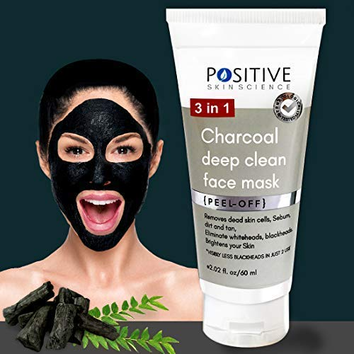 POSITIVE 3 in 1 Activated Charcoal (deep clean) Peel off mask for Men & Woman | 60 GMS