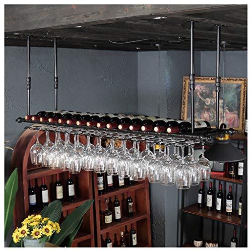Inversione Supporto Per Bicchiere Da Vino Appeso Portabottiglie Da Parete Rastrelliera Per Vino In...