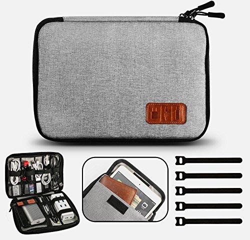 Gibot Cavi organizza Bag Elettronica Viaggio Borsa Organizzatore Medio Grigio