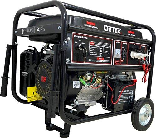 Generador de corriente, 5500W, 13CV, de gasolina, 230V, con arranque eléctrico