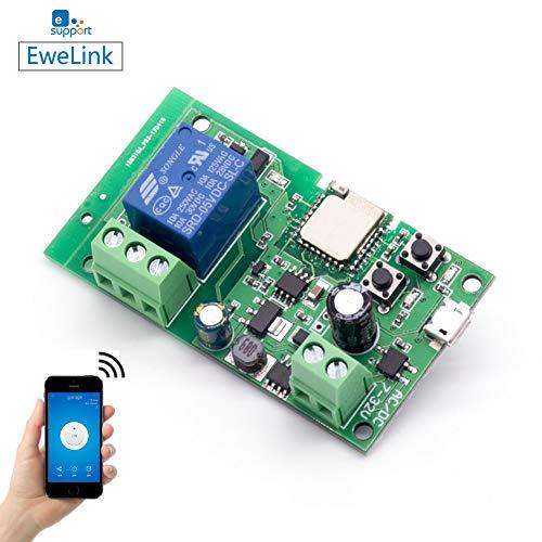 Módulo Relé Wifi funziona con Alexa/Google Home/Sonoff/Ewelink/IFTTT, Interruttore WiFi per fai-da-te qualsiasi dispositivo per la casa intelligente - porta del garage, luce, ventilatore (ST-DC1)