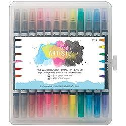 Artiste Watercolour - Rotuladores de dos puntas (12 unidades), multicolor