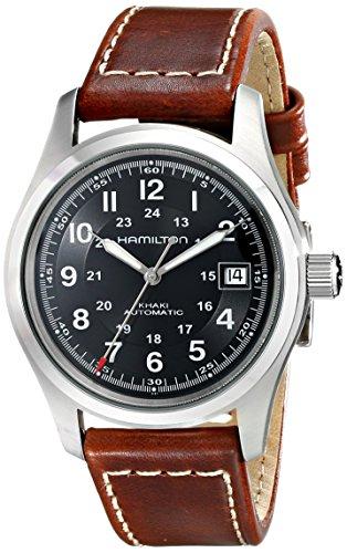 Hamilton Herren Analog Automatik Uhr mit Leder Armband H70455533