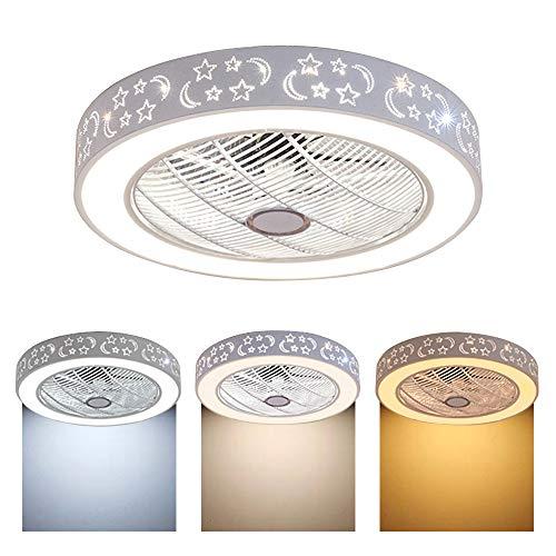 Deckenventilator Deckenleuchte 40W Dimmbar mit Beleuchtung und Fernbedienung, Wohnzimmerlampe für Wohnzimmer, Schlafzimmer