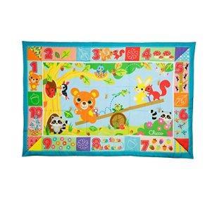 Chicco - Alfombra XXL Amigos del Bosque 135 x 90 cm, tappete de Juegos para bebés.