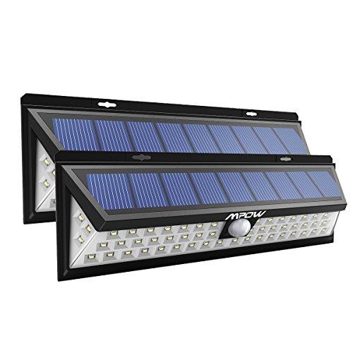 [2 Pezzi] Mpow Luce Solare 54 LED, 3 Modalità di illuminazione, Lampada Wireless ad Energia Solare...