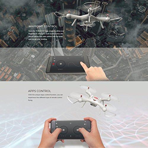 Kongqiabona 720P HD WiFi Telecamera Regolabile Syma X25PRO 2.4G GPS Posizionamento FPV RC Drone...