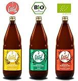 3 Liter Original Bio Kombucha Tee Getränk natürlich fermentiert und nicht pasteurisiert/Rohkost (3er Mix)